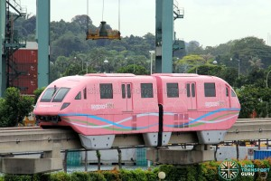 Sentosa Monorail - Pink Train
