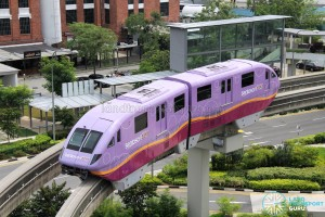 Sentosa Monorail - Purple Train
