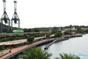 Sentosa Monorail Line between HarbourFront and Sentosa Island