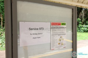 For Bukit Panjang Commuters: Alight at Bus Stop 43899- Bef Dairy Farm Cres, Dairy Farm Rd for Hillview MRT Station