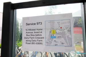 Where to board Bus Service 973 at Hillview