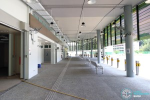 New Shenton Way Bus Terminal - Concourse with sawtooth berths