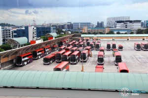 Soon Lee Bus Depot - Parked buses