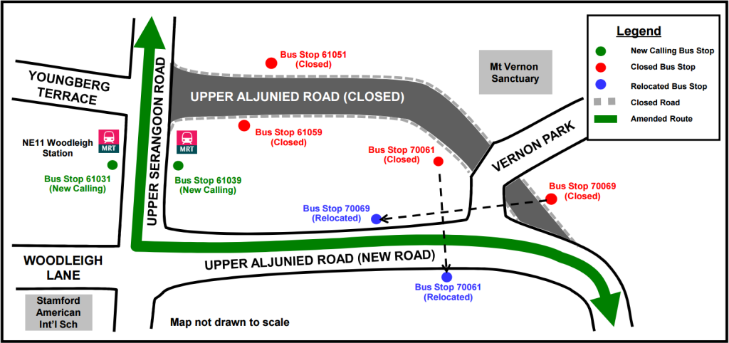 Upper Aljunied Road Closure