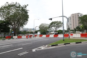 Upper Aljunied Road - Cordoned off from Upper Serangoon Road