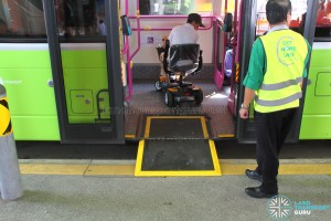 Wheelchair Ramp on a Volvo B9TL Wright