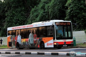SMRT Mercedes-Benz OC500LE (SMB116K) - Service 176