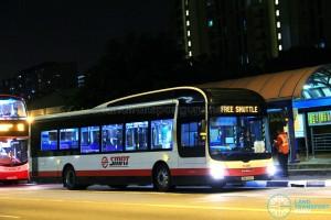 SMRT MAN NL323F (SMB1326P) - East West Line MRT Shuttle (Tanah Merah - Pasir Ris)