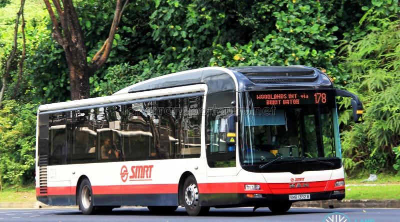 SMRT MAN A22 (SMB1382B) - Service 178