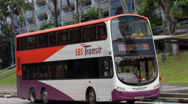 SBS Transit Volvo B9TL Wright (SBS3180U) - Service 35