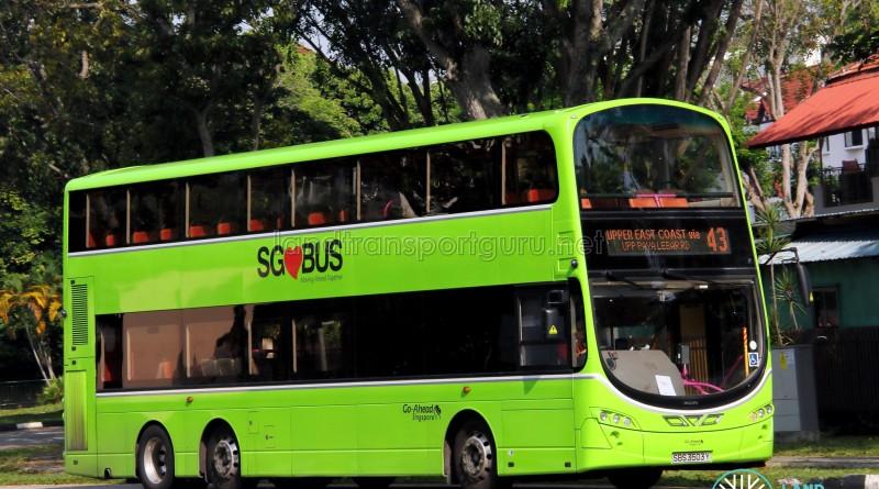 Go-Ahead Volvo B9TL Wright (SBS3503Y) - Service 43