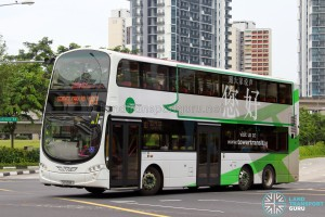Tower Transit Volvo B9TL Wright (SG5008J) - Service 183, featuring Tower Transit recruitment advertising wrap