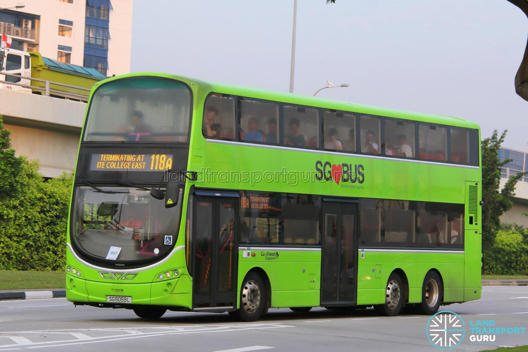 Go-Ahead Volvo B9TL Wright (SG5059L) - Service 118A