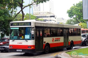 SMRT Dennis Lance (TIB928G) - North South Line MRT Shuttle (Bishan - Raffles Place)