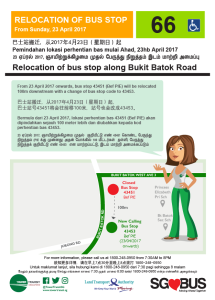 Relocation of Bus Stops along Bukit Batok Road (TTS Service 66)