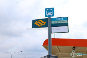 Bus Stop Pole for Service 35 along Tanah Merah Coast Road