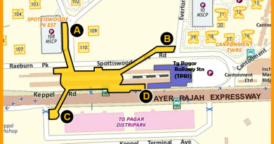 Cantonment MRT Station - Indicative location map