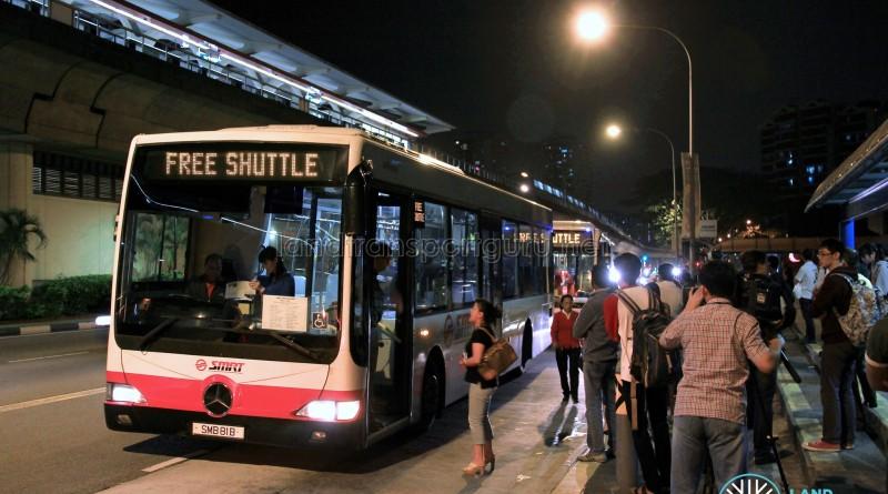 East-West Line Free Shuttle (Tanah Merah - Pasir Ris)
