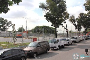 Hougang Bus Depot Expansion - View from Defu Lane 9