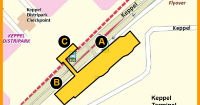 Keppel MRT Station - Indicative location map