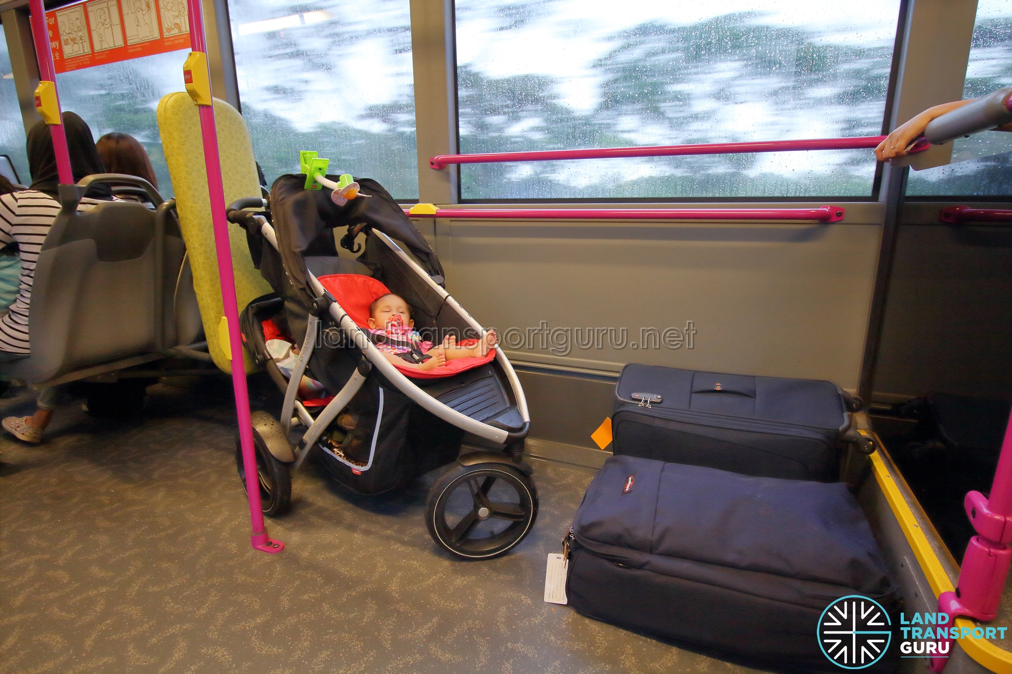 Open prams are allowed on public buses