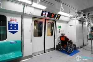 Kawasaki Heavy Industries & CSR Qingdao Sifang C151B - Wheelchair Bay occupied