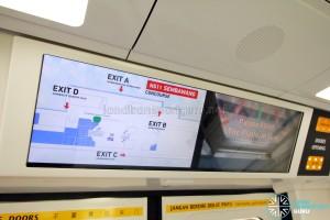 Kawasaki Heavy Industries & CSR Qingdao Sifang C151B - LCD Information Panel