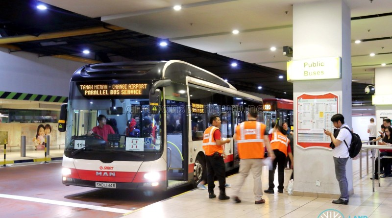 Tanah Merah – Changi Airport Parallel Bus Service: Changi Airport T3 Boarding Stop