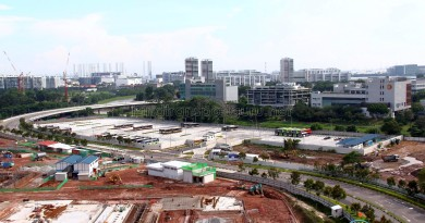 Ulu Pandan Bus Depot - Bus Park (Overhead view)