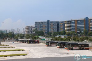 Ulu Pandan Bus Depot - Bus Park, occupied by SMRT Buses
