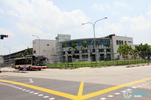 Woodlands Bus Depot - View from Woodlands Industrial Park E4 / E9 junction