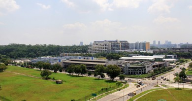 Woodlands Bus Depot - Overhead view, with Woodlands Bus Park on the far left