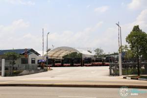 Woodlands Bus Park - Main entrance along Woodlands Avenue 4