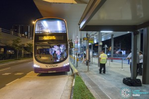 Downtown Line Shuttle Bus Service at Bukit Panjang