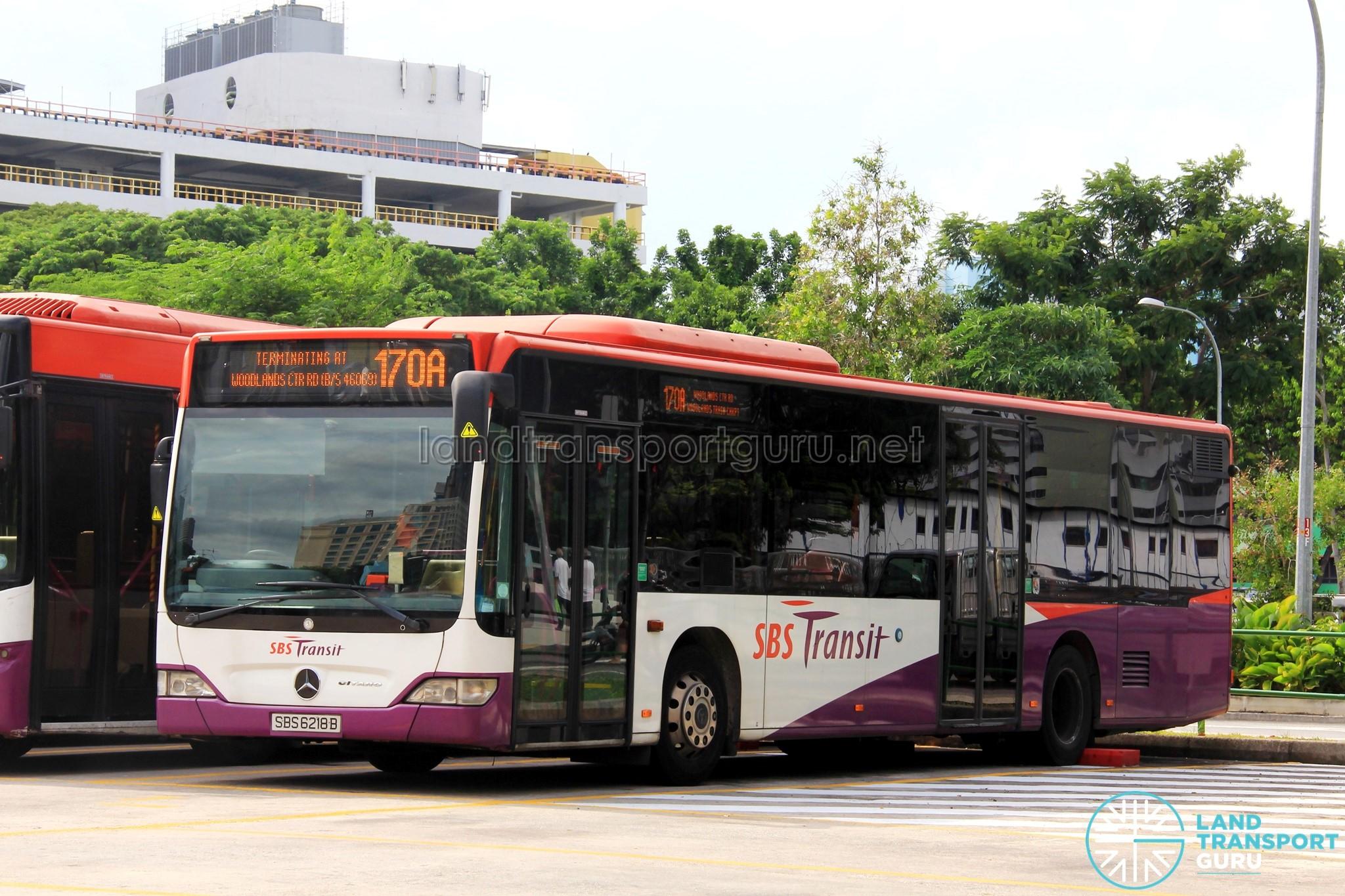 Sbs transit bus service 170 land transport guru for Mercedes benz woodlands service