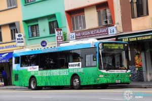 SBS Transit previously trialled a Volvo B5RLE Hybrid in Singapore