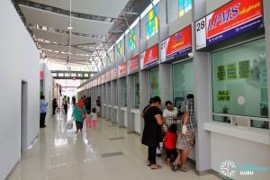 Larkin Bus Terminal - Ticketing counters