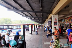 "Larkin Bus Terminal - ""B"" berths on North side"