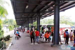 """Larkin Bus Terminal - """"A"""" berths on East side"""