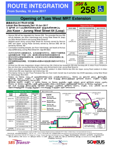 Route withdrawal poster for Service 256 & Route amendment poster for Service 258
