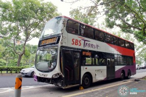 Accident bus moved to Hougang Ave 2 (Blk 634) bus stop