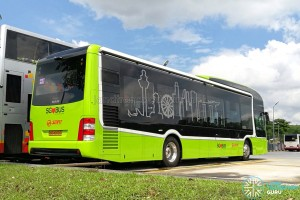 SG4002G in Woodlands Bus Park: Rear offside