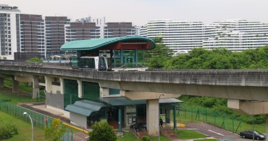 Sam Kee LRT Station - Exterior view