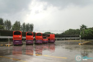 Tuas Bus Terminal Parking Area