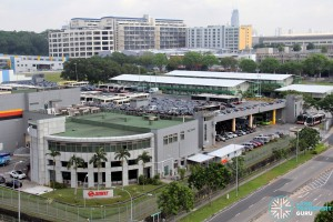 Woodlands Bus Depot - Aerial view