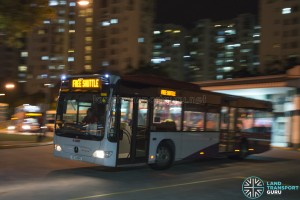 MRT Bridging Bus at Choa Chu Kang