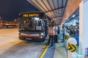 MRT Bridging Bus at  Woodlands