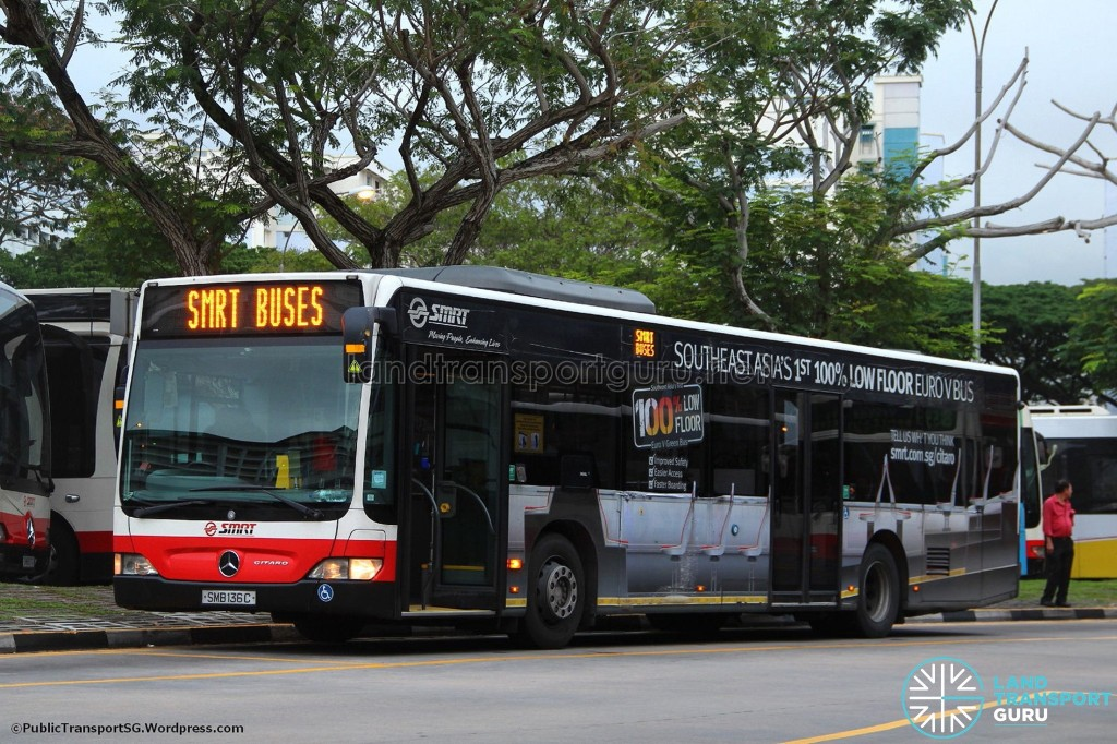 SMB136C, the very first Mercedes-Benz Citaro in Singapore