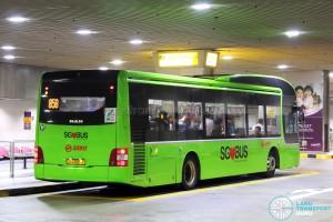 SMRT Buses MAN A22 [Rear] (SG1721J) - Service 858