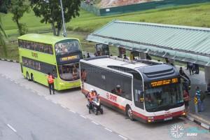 MRT Bridging Bus at Kranji